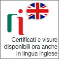 Visure e certificati in lingua inglese